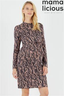 Mamalicious Maternity Long Sleeve Jersey Dress
