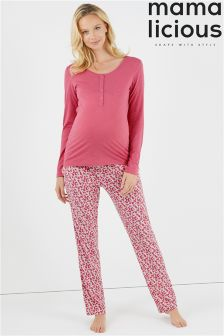 Mamalicious Maternity Nursing Long Sleeve Jersey Pyjamas