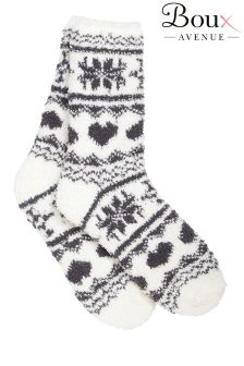 Boux Avenue Fairisle Chenille Socks