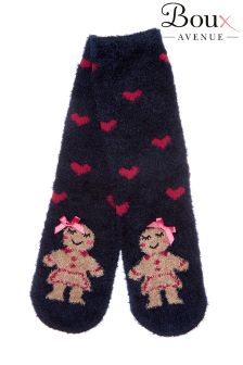 Boux Avenue Mr & Mrs Gingerbread Christmas Socks