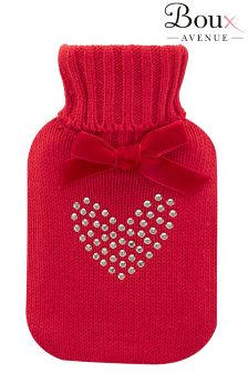 Boux Avenue Diamanté Heart Hot Water Bottle