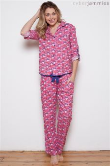 Cyberjammie Connie Fan Print PJ Set