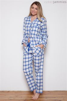 Cyberjammies Maya Blue Check PJ Set