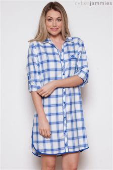 Cyberjammies Check Night Shirt Dress