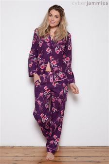 Cyberjammies Anna Floral Print Pyjama Set