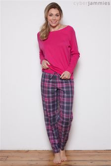 Cyberjammies Check Print Pyjama Set