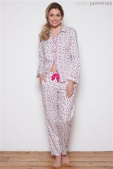 Cyberjammies Bella White Spot Print PJ Set