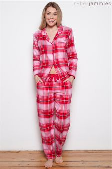 Cyberjammies Check PJ Set