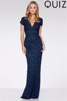Quiz Sequin Cap Sleeve Maxi Dress
