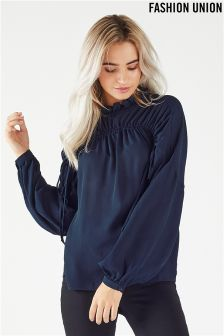 Fashion Union Ruched Blouse
