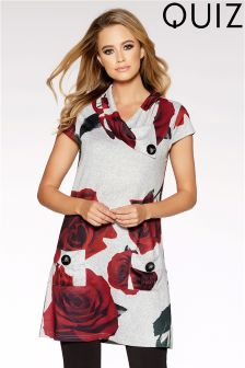 Quiz Rose Print Tunic Dress