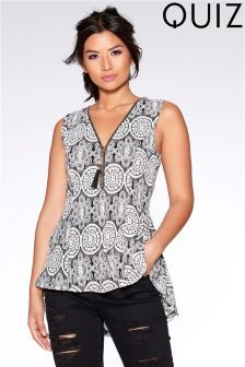 Quiz Lace Printed Top