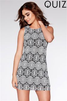 Quiz Lace Print High Neck Dress