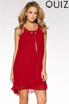 Quiz Chiffon Sleeveless Necklace Tunic Dress