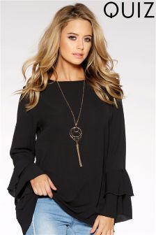 Quiz Frill Sleeve Top