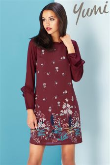 Yumi Lily Snowdrop Border Tunic Dress