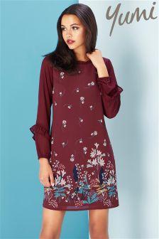 Yumi Lily Snowdrop Border Tunic Dress