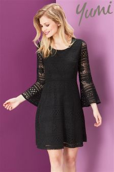 Yumi Corded Lace Baby Doll Dress