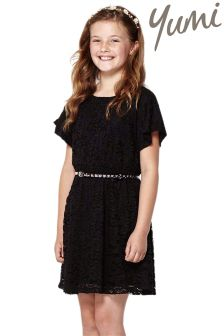 Yumi Girl Raglan Rose Lace Dress