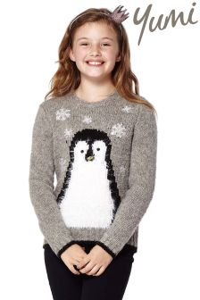 Yumi Girl Penguin Jumper