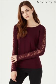 Society 8 Lace Insert Jumper