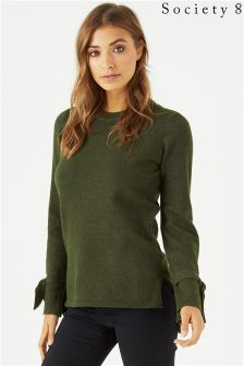 Society 8 Tie Sleeve Jumper
