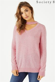 Society 8 Choker Jumper