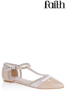 Faith Mesh T-Bar Flat Shoes