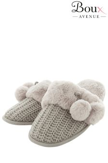Boux Avenue Pom Knitted Slippers