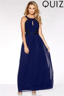 Quiz High Neck Embellished Maxi Dress