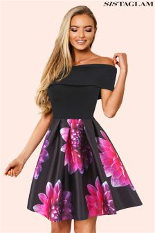 Sistaglam Bardot Skater Dress