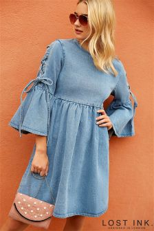 Lost Ink Denim Dress