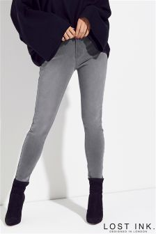 Lost Ink Mid Rise Skinny Jeans