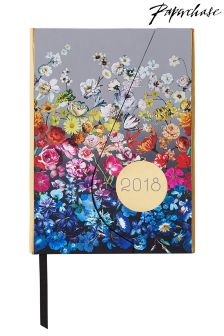 Paperchase A6 Floral Print 2018 Diary