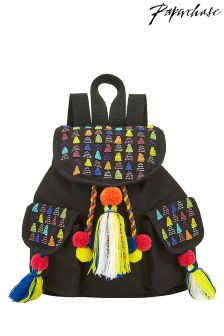 Paperchase Beaded Canvas Backpack