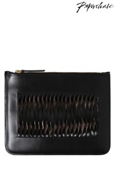 Paperchase Bloom Noir Leather Pouch