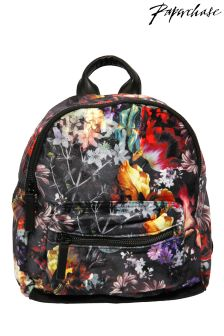 Paperchase Bloom Noir Velvet Floral Backpack