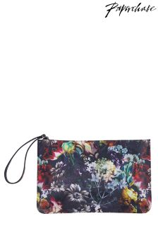 Paperchase Bloom noir Floral Clutch
