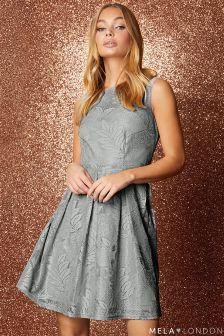 Mela London Shimmer Skater Dress