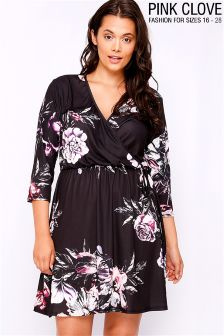 Pink Clove Floral Wrap Dress