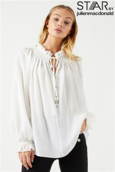 Star By Julien Macdonald Shirred Neck Blouse