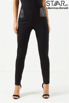 Star By Julien Mcdonald Cracked Ponte Trousers