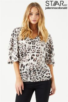 Star By Julien Macdonald Double Layered Sleeve Top