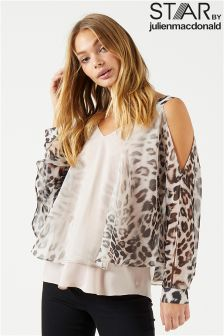 Star By Julien Macdonald Ombre Animal Cape Top