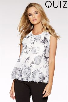 Quiz Floral Bubble Top