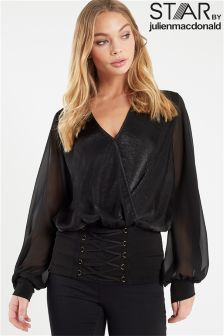 Star By Julien Macdonald Corset Wrap Top