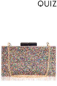Quiz Glitter Detail Box Bag