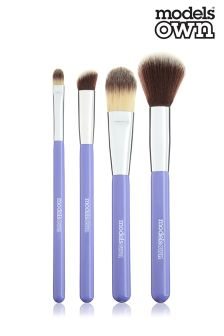 Models Own 4pc Complete Eyeshadow Brush Set