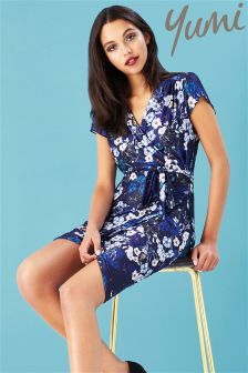 Yumi Botanical Stardust Wrap Dress