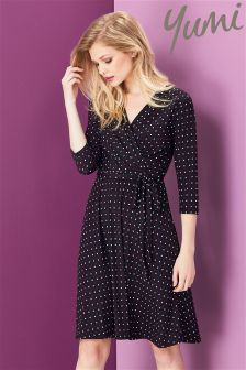 Yumi Star Print Wrap Dress